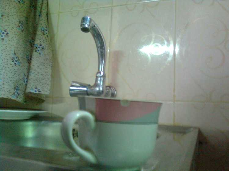cup on basin